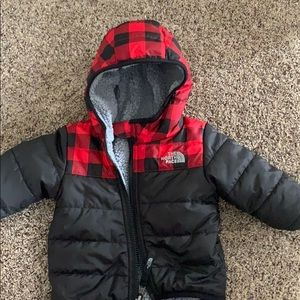 Reversible baby north face